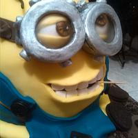 Minion 3d cake despicable me!