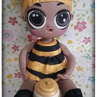 Queen Bee LOL Surprise cake topper