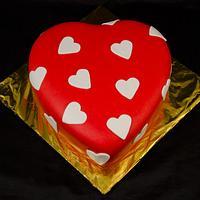 Valentine's Day Heart Cake