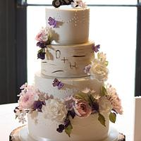 Flowers & Woodland Wedding Cake