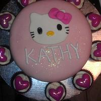 Hello Kitty Cake w/ Cupcakes