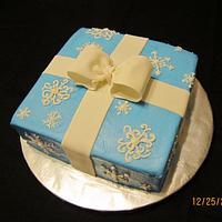 Snowflake Gift Cake