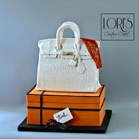 Birkin purse cake