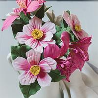 Gardenia, Cosmos and Alstroemerias