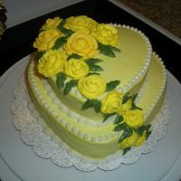 heart rose cake by Kimberly