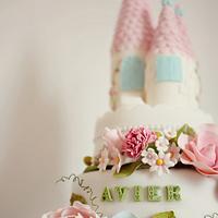 Shabby Chic Castle Cake
