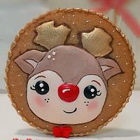 Cute reindeer by Gele's Cookies