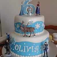 Two tiered Frozen cake