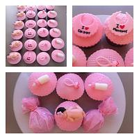 baby 1 month cupcakes