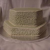 Cornelli Lace Birthday Cake