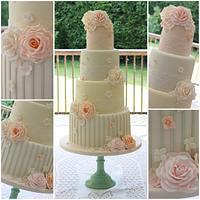 Retro Vintage Wedding Cake