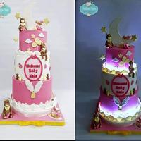 Lighting cake