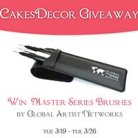 CakesDecor Giveaway 2019 #3: Global Artist Networks Master Series Brushes!