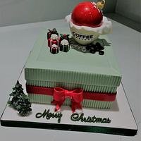 Coffee Cup Christmas Cake