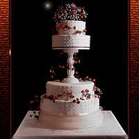 Simple 4 Tiered wedding cake