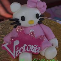 Hello Kitty and Vintage Style Cupcakes  by Maria @ RooneyGirl BakeShop