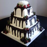Tuxedo Cake with Strawberries