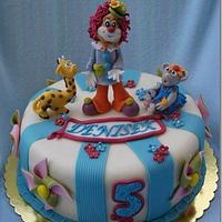 Cake with clown
