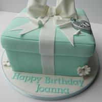 Tiffany style cake box