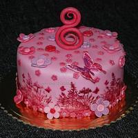 butterfly flowers cake