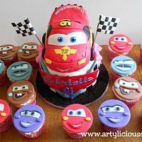 cars 2 cupcakes set
