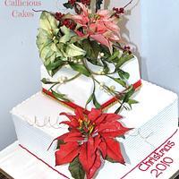 Poinsettia Xmas Cake