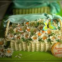 "Cake ""Basket of Flowers"""