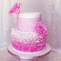 Pink ruffles and lace