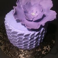 Purple Petal Cake by Nikki Belleperche