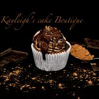 Chocolate Nutella cupcake