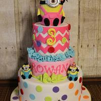 Minion Girly Cake