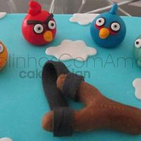 Litle Angry Birds cake for João