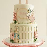 Beatrix Potter baby shower by Steel Penny Cakes, Elysia Smith