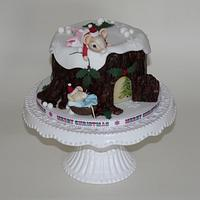 Cute Mice Christmas Cake