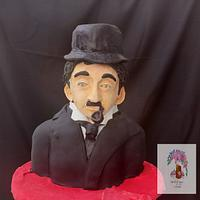 Charlie Chaplin - Bust cake
