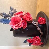 Wild roses cake