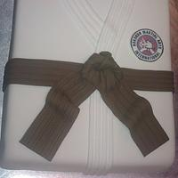 Martial arts Gi cake for Jukido Jujitsu