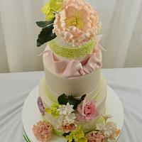 Spring Blooms on a Cake by Sugarpixy