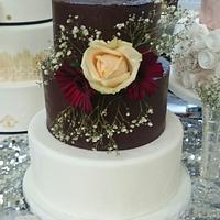Naked Ganache Wedding cake