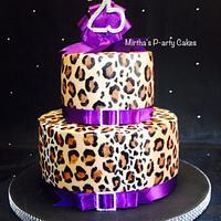 Leopard spots cake