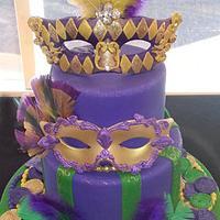 Mardi Gras cake and kings cakes