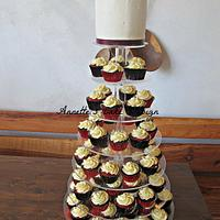 Cupcakes Wedding Cake by AnnettesCakes