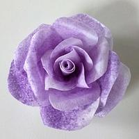 Purple wafer paper rose