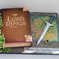 Lord of the Rings themed book cake