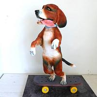 Dog on a Skateboard