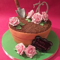 Surprise 70th birthday cake