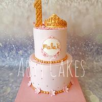 Tiara first birthday cake