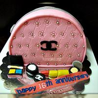 Chanel Makeup Bag Cake