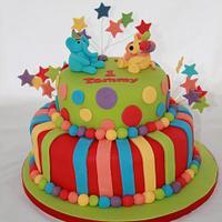 Stripes & Spots Birthday Cake