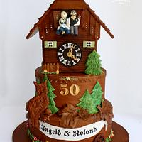 German Cuckoo Clock Cake